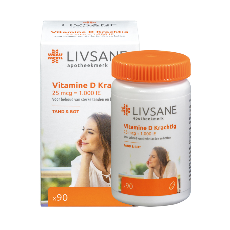 Vitamine D Krachtig 25 Mcg 1000 Ie Tabletten 90 Stuks Livsane